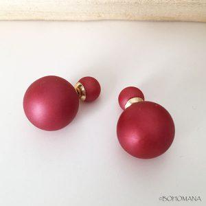 Boucles d'oreilles doubles perles