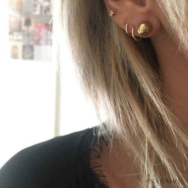 Boucles d'oreilles en acier boules