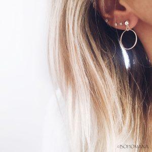 Boucles d'oreilles cercles argent