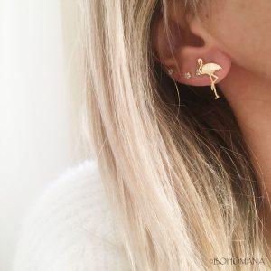 Boucles d'oreilles Flamant