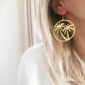Boucles d'oreilles palmiers
