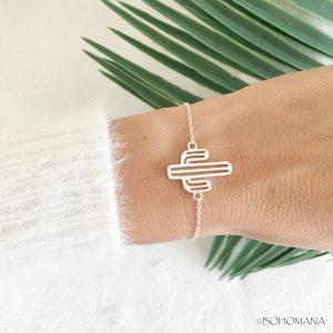 Bracelet fantaisie Cactus argent