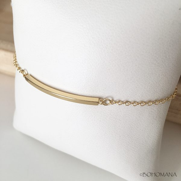 Bracelet fantaisie barre or