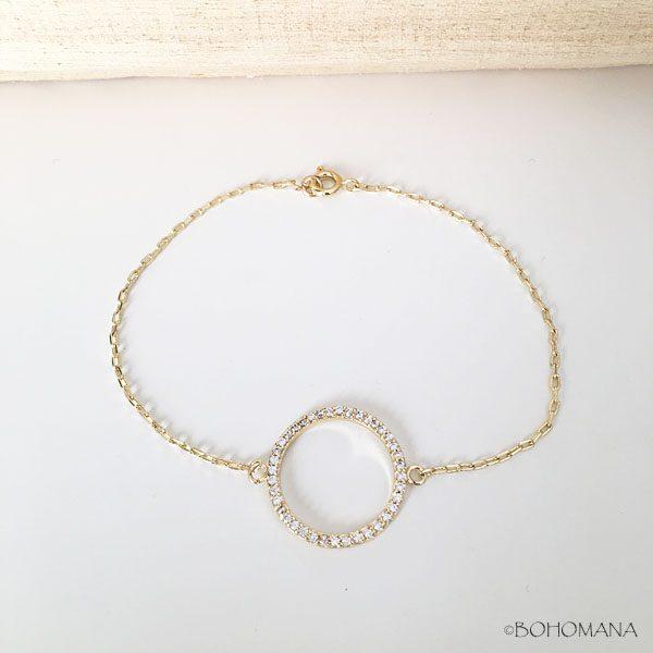 Bracelet plaqué or cercle