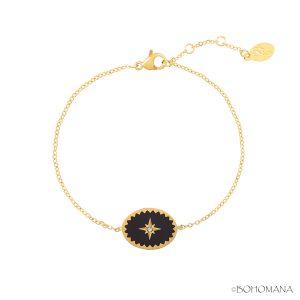 Bracelet fantaisie nacre noire