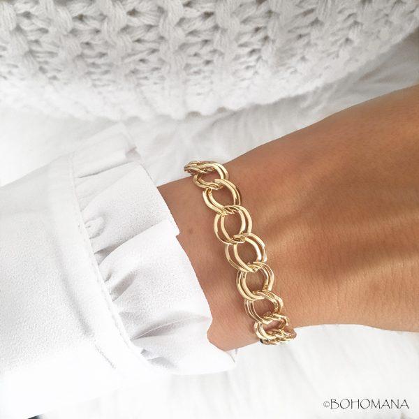 Bracelet plaqué or maillons