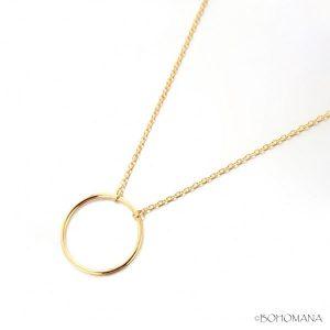 Collier en plaqué or avec pendentif cercle
