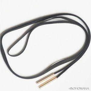 Collier lacet noir