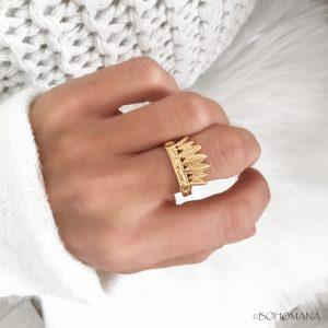 Bague or coiffe indienne