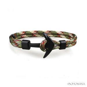 Bracelet ancre cordon bleu