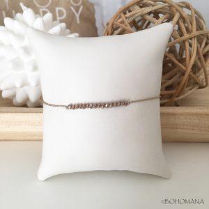 Bracelet coulissant perles beiges