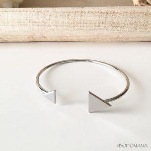 Bracelet jonc argent triangles
