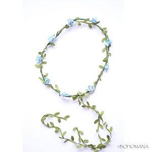 Couronne de fleurs bleue