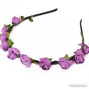 Serre-tête fleurs violet