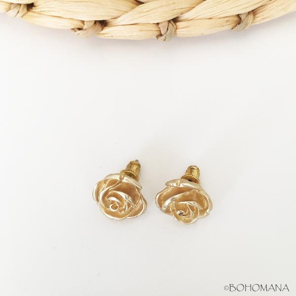 Boucles d'oreilles rose or