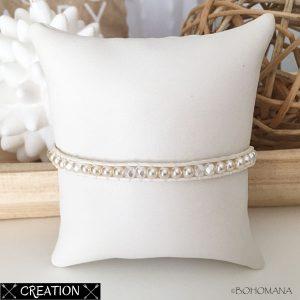 Bracelet wrap création blanc