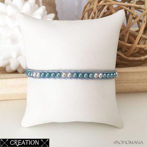 Bracelet wrap création bleu