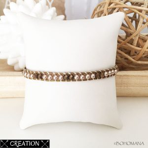 Bracelet wrap création marron