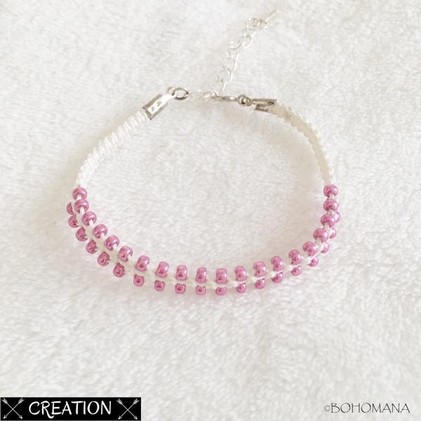 Bracelet création macramé