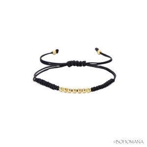 Bracelet macramé noir
